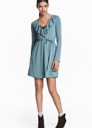 Платье на запах с длинным рукавом h&m