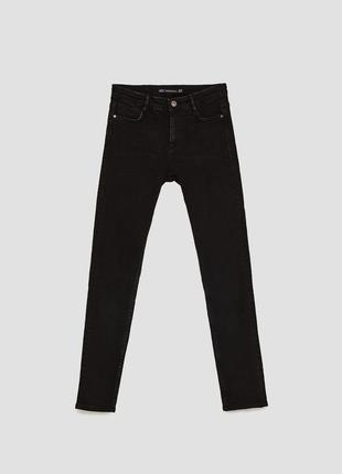 Новые черные джинсы на высокой посадке. скини, zara