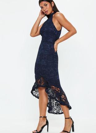 Платье вечернее ажурное с каскадным низом quiz размер 10