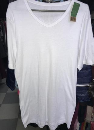 Мужская нательная футболка 100% хлопок