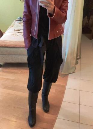 Женские штаны черные алладины брюки голифе высокая посадка с п...