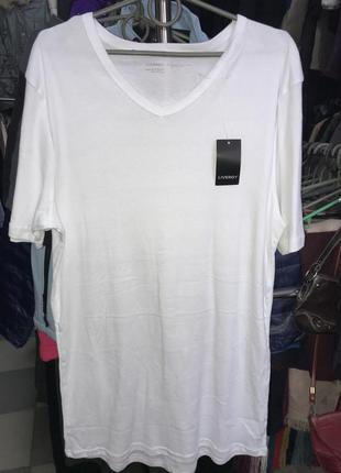 Мужская нательная футболка livergy 100% хлопок
