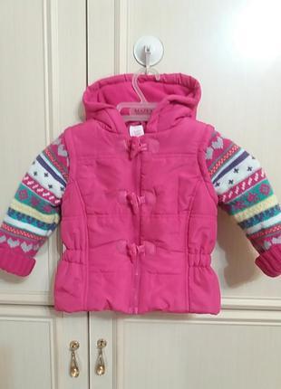 Малиновая курточка  baby club р.86(9-12 мес)