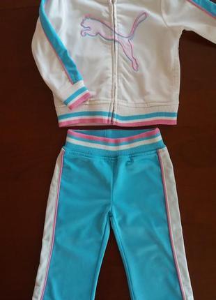 Фирменный спортивный костюм puma(оригинал из сша) на 18 месяцев