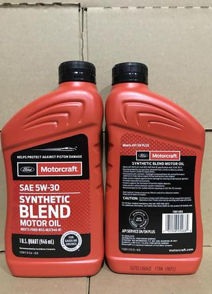 Ford motorcraft synthetic Blend 5w30 0,946ml.
