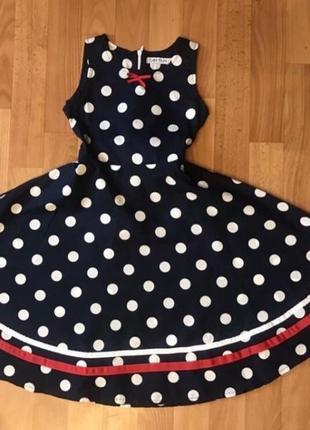 Стильное платье в ретро стиле на 8 лет