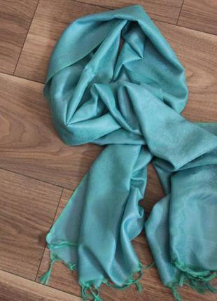 Голубой шарф,бирюзовый шарф