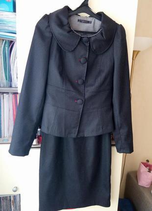 Костюм raxevsky платье-футляр + пиджак р.36