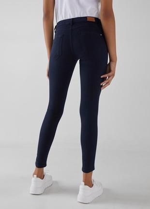 #розвантажуюсь  темно-синие джинсы скинни push up bershka