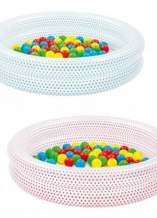 Бассейн детский надувной с шариками BESTWAY 51141 ,размер  91-20