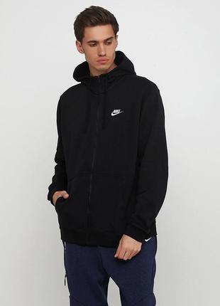 Кофта свитшот худи nike m nsw hoodie fz ft club оригинал! - 30%