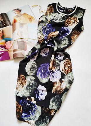 Красивое платье под шёлк цветочный принт распродажа акция