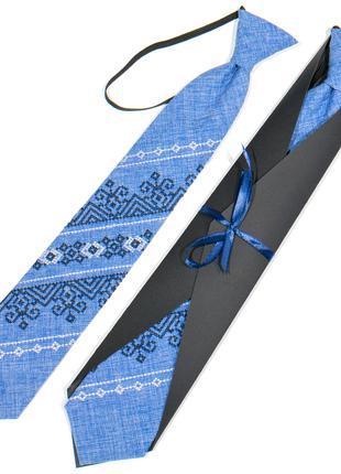 Підліткова вишита краватка №784