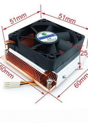 Система охлаждения кулер сервера LGA 989 988 51x51mm