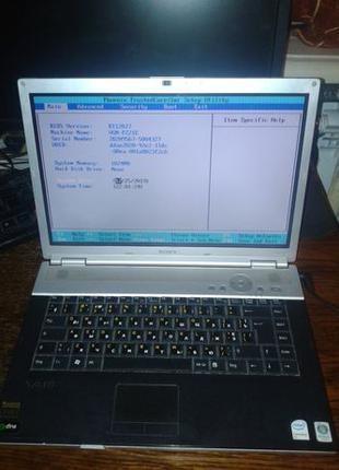 Ноутбук Sony Vaio PCG-392M VGN-FZ21E дефектный