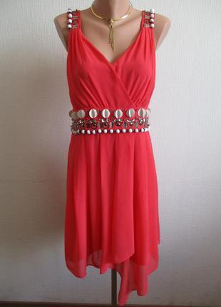 Платье на запах, украшенное бисером spotlight by warehouse