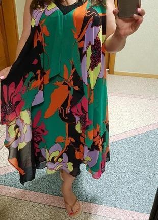 Шифоновое летнее платье (сарафан) с цветочным принтом planet с...