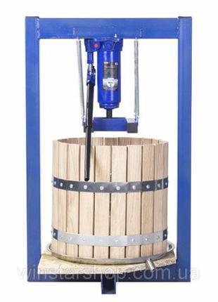 Пресс для сока 25л с домкратом, давление 5 тон, гидравлический.