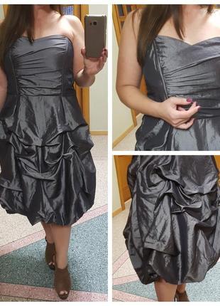 Вечернее серебряное платье большого размера george