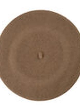 Берет шерсть нюдовий карамель верблюдового кольору