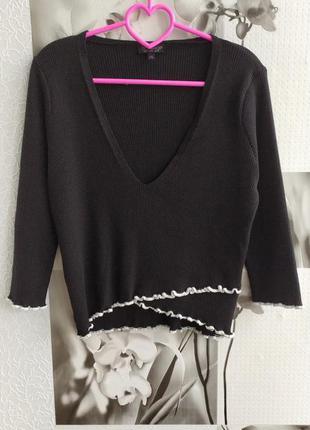 Свитерок,  свитер, полувер, реглан , в рубчик от бренда topshop
