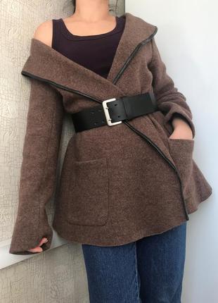 Шерстяной кардиган/кофта/пальто/куртка на запах liv of copenhagen