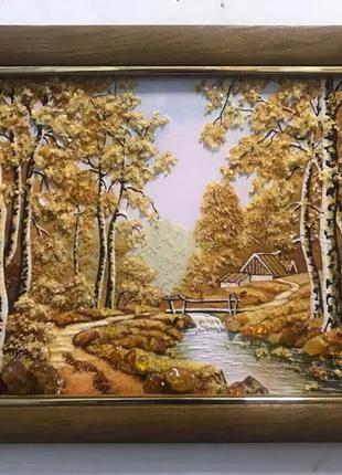картина пейзаж з бурштину