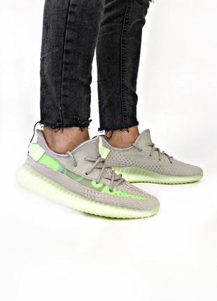 Мужские кроссовки adidas yeezy boost 350 green grey