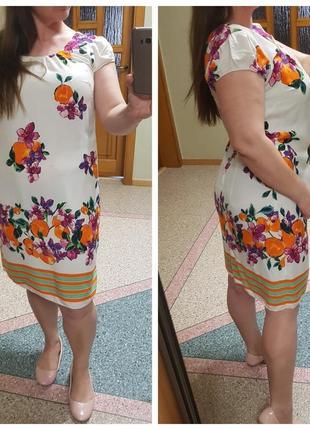 Натуральное летнее платье с v-образным вырезом wallis
