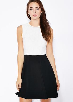 Распродажа! dorothy perkins красивое черно-белое платье с деко...