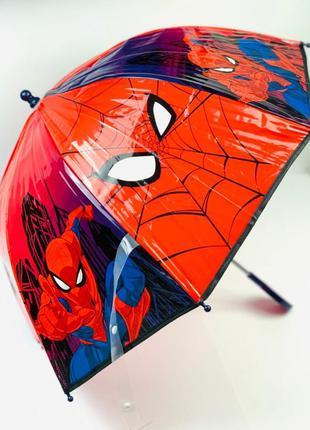 """Зонт """"человек паук"""" для мальчика 2-8 лет"""