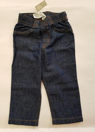 Carter's джинсы оригинал 18мес на резинке хлопок