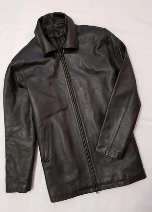 Кожаная мужская куртка warmgroup