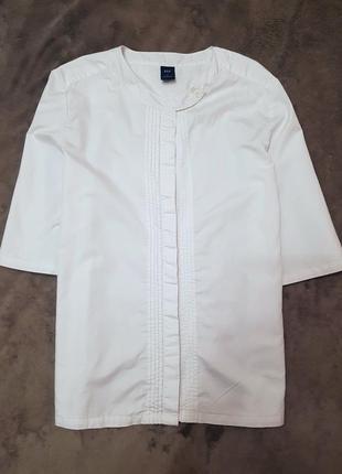 Gap рубашка xs белая блуза блузка