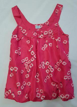 Oasis майка натуральный шелк цветочный принт м блуза блузка