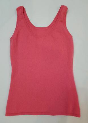 Ladies cashmere майка блузка розовая 100%натуральный кашемир xs-s