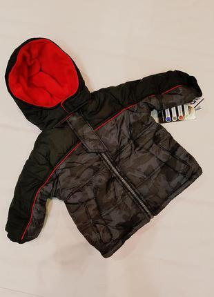 Детская куртка парка на теплой флисовой подкладке наполнитель ...