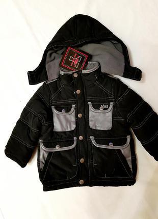 Куртка детская теплая флисовая подкладка наполнитель халлофайбер