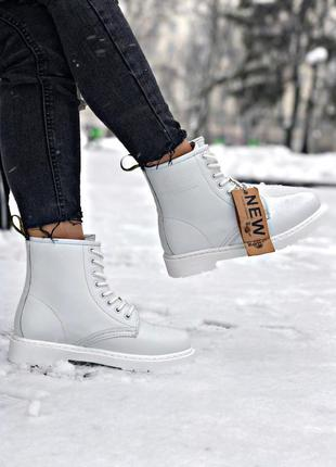 💝dr martines 1460 white💖женские ботинки зимние/демисезон докто...