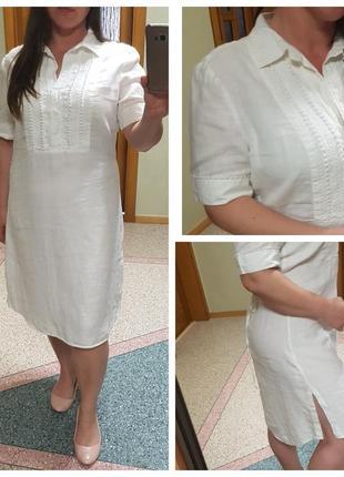 Натуральное белое платье savoir, лен