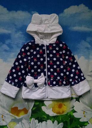Демисезонная куртка с  ушками для девочки 4-5 лет