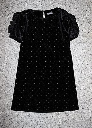 Велюровое бархатное платье одежда для девочки 8-9 лет некст next