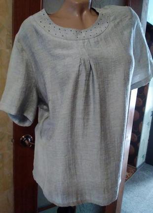 Стильная летняя блуза, большого размера