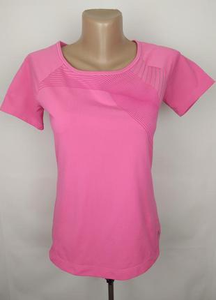 Футболка розовая красивая спортивная adidas uk 4-6