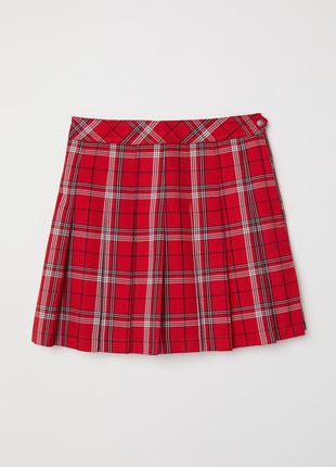 Юбка в складку,юбка в клеточку
