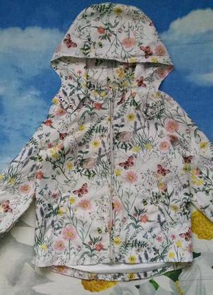 Стильная куртка,ветровка для девочки 3-4 года