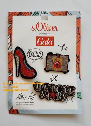 Значки, брошь s.oliver набор значков, комплект брошей, значек