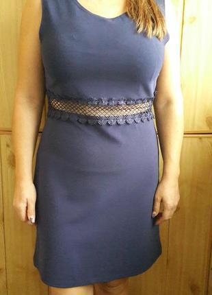 Платье  с вставками мелкой сетки river island