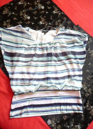 """Женская летняя блуза с коротким рукавом """"летучая мышь"""""""