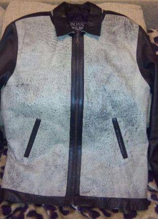 Куртка кожаная мужская. Осень-весна